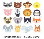 animals carnival mask vector... | Shutterstock .eps vector #621538199