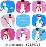Collection Of Snowmen On...