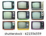 set of retro television   old... | Shutterstock . vector #621556559