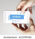 hands working on digital device ... | Shutterstock . vector #621559436