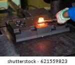 high precision hot forging... | Shutterstock . vector #621559823