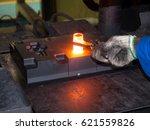 high precision hot forging... | Shutterstock . vector #621559826