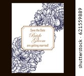 invitation with floral...   Shutterstock . vector #621559889