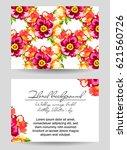 romantic invitation. wedding ... | Shutterstock .eps vector #621560726
