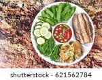 thai popular food spicy shrimp... | Shutterstock . vector #621562784