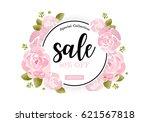 watercolor sale banner... | Shutterstock .eps vector #621567818