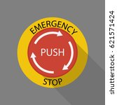emergency stop button | Shutterstock .eps vector #621571424