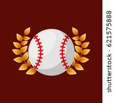 baseball sport emblem icon   Shutterstock .eps vector #621575888