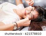 portrait of asian women take...   Shutterstock . vector #621578810