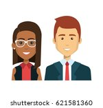 businesspeople avatars... | Shutterstock .eps vector #621581360