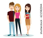young people style characters   Shutterstock .eps vector #621582044