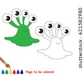 slug alien to be colored  the... | Shutterstock .eps vector #621582980