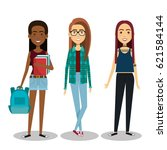 young people style characters | Shutterstock .eps vector #621584144