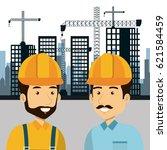 professional construction... | Shutterstock .eps vector #621584459