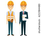 professional construction... | Shutterstock .eps vector #621584480
