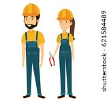 professional construction... | Shutterstock .eps vector #621584489