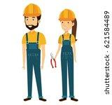 professional construction... | Shutterstock .eps vector #621584489