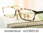 miniature cleaning glasses... | Shutterstock . vector #621585110