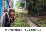yangon  myanmar  april 15  2017 ... | Shutterstock . vector #621585428
