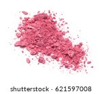 pink crushed eyeshadow makeup... | Shutterstock . vector #621597008
