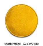 large gold coin with copy space ... | Shutterstock . vector #621599480