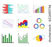 collection of color diagram and ... | Shutterstock .eps vector #621600746