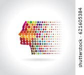 inspiration concept with head  | Shutterstock .eps vector #621605384