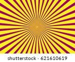 sunny background. rising sun... | Shutterstock .eps vector #621610619