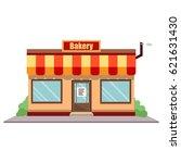 raster illustration bakery shop ... | Shutterstock . vector #621631430