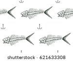 seamless pattern with fish... | Shutterstock .eps vector #621633308