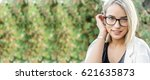 portrait of a young woman ... | Shutterstock . vector #621635873
