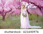 young beautiful blonde woman in ... | Shutterstock . vector #621640976