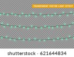 christmas lights isolated... | Shutterstock .eps vector #621644834