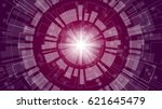 abstract technology tunnel with ... | Shutterstock .eps vector #621645479
