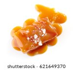 salted caramel candy isolated... | Shutterstock . vector #621649370