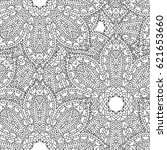 monochrome hand drawn lace... | Shutterstock .eps vector #621653660