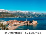 the old town of budva ... | Shutterstock . vector #621657416