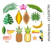 set of vector elements.... | Shutterstock .eps vector #621658790