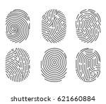 set of fingerprint types with... | Shutterstock .eps vector #621660884