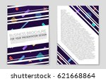 abstract vector layout... | Shutterstock .eps vector #621668864