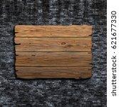 3d render of an old wooden sign ...   Shutterstock . vector #621677330