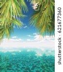 3d render of a tropical...   Shutterstock . vector #621677360
