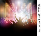 disco background with party...   Shutterstock .eps vector #621677984