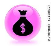 money bag icon. internet button ...