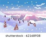 winter  beautiful landscape....   Shutterstock . vector #62168938