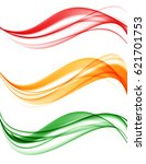 abstract wavy lines set in red... | Shutterstock .eps vector #621701753