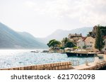 the old town of perast on the... | Shutterstock . vector #621702098