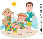 vector illustration of a family ... | Shutterstock .eps vector #621705434