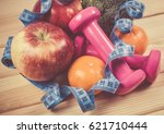 fruit and vegetables as part of ... | Shutterstock . vector #621710444
