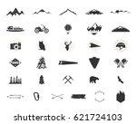 outdoor adventure silhouette... | Shutterstock .eps vector #621724103